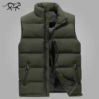 Gilet hommes nouveau élégant printemps chaud sans manches veste d'hiver hommes armée gilet hommes gilet mode automne manteaux décontractés grande taille 6XL