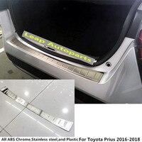 Top For Toyota Prius 2016 2017 2018 External Rear Bumper Trunk Protect Trim Car Cover Detector