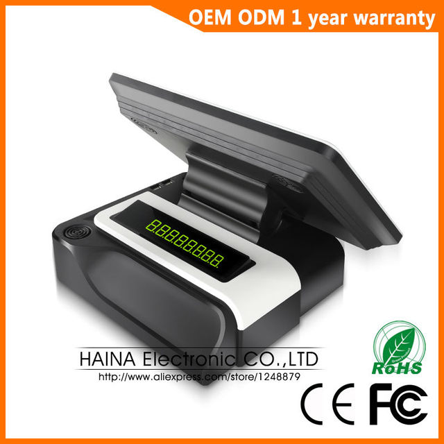 Haina Touch 15 inch RFID Touch Screen Pos Terminal Machine with Customer display 1