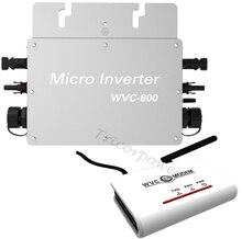 600 Watt Rasterfeld-riegel Mikrosolarinverter WVC600 Mit drahtlose Kommunikation, MPPT rein sinus 22-50 V DC zu 120 V oder 230 V AC
