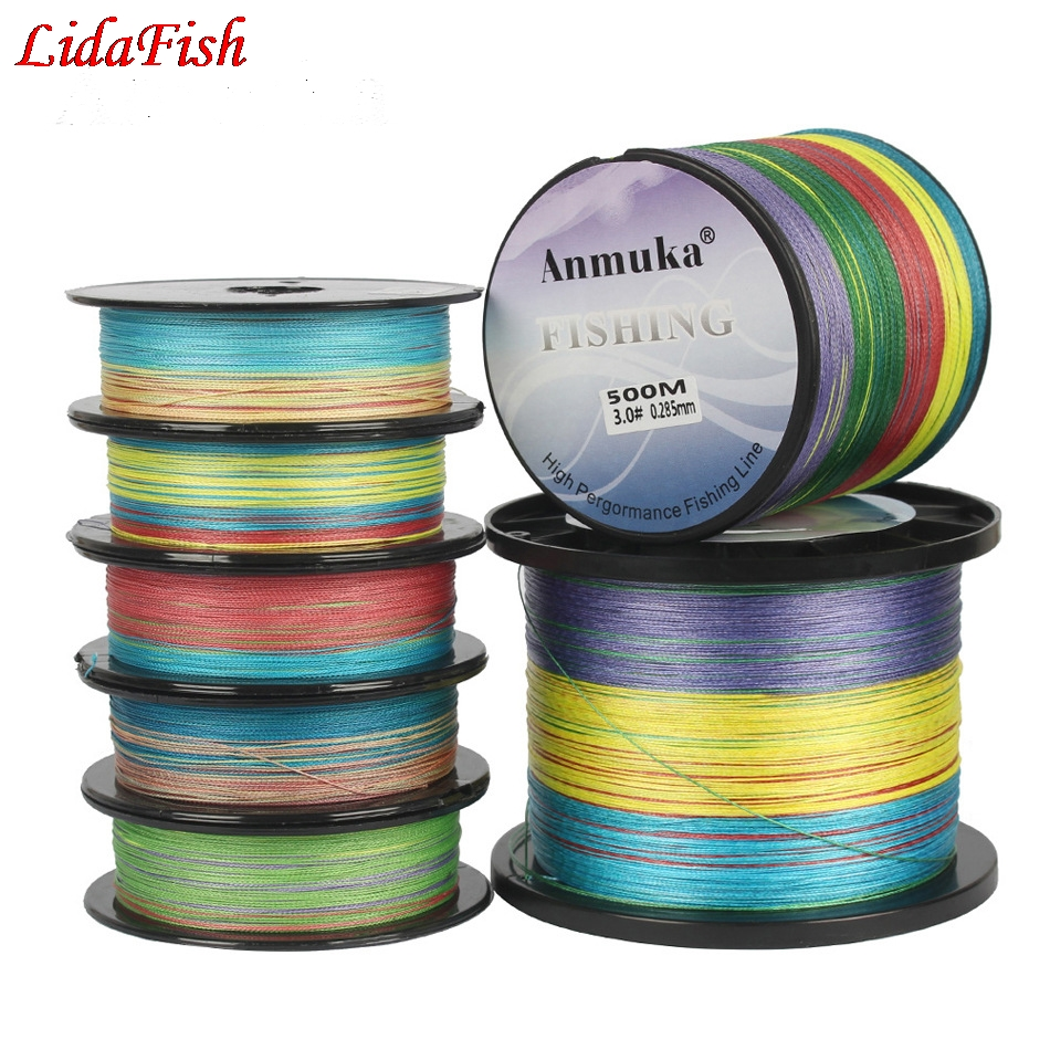 100M 300M 500M 1000M SUPER PE Line Japan Multifilament 100% PE Braided Fishing Line