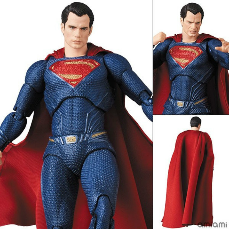 Mafex 057 Dc Superman Clark Kent Kal-el Anime Figure Pvc Figures Model Collection Action Toy Figures Toys Boys Girls Lover Gift A Complete Range Of Specifications Action & Toy Figures