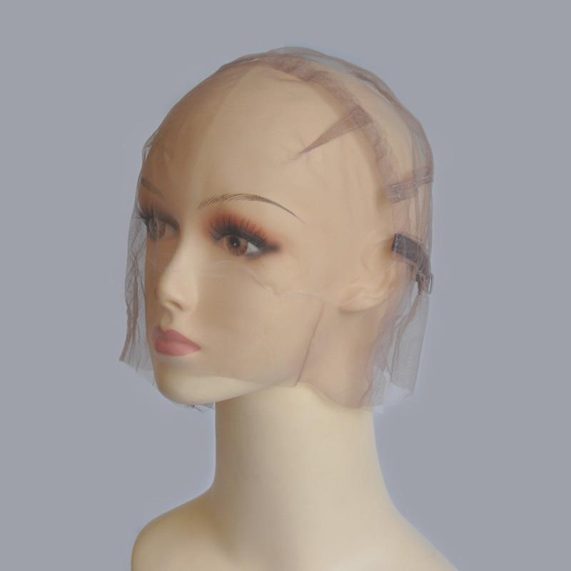 Gorro de peluca suizo transparente completo para hacer pelucas de encaje completo con correa ajustable Personalizar tu propio estilo de redecilla