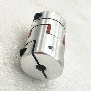 Image 5 - Бесплатная доставка CNC Гибкая Губка Паук Слива Соединительная муфта вала D40 L65 мм 14/17 мм с keyway 5 мм на одном конце