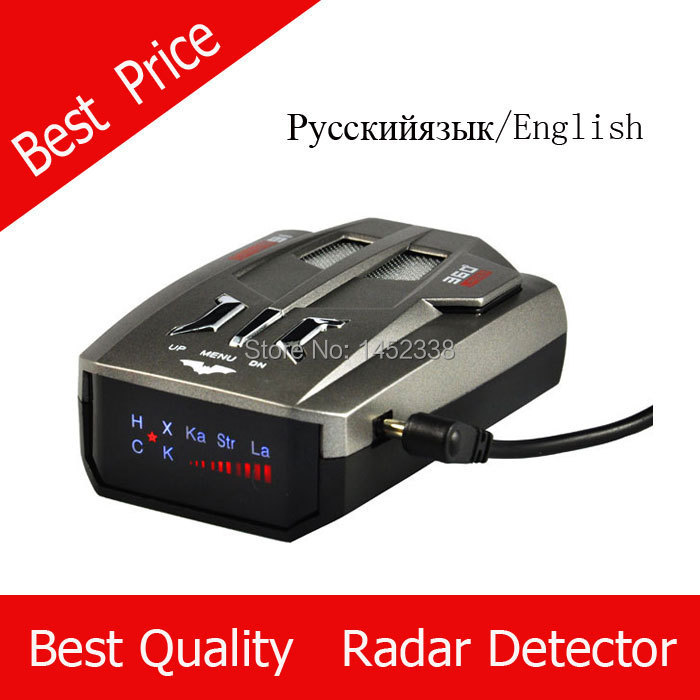 Voice Alert 360 degree Radar detector English and Russian option Whole sale price car speeding pre-warning system