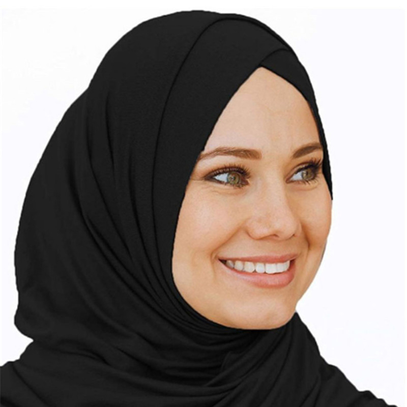 2019 Muslim Jersey Instant Hijab Scarf For Women Femme Musulman Ready To Wear Underscarf Cap Islamic Headscarf Turban Scarf