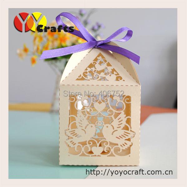 6db0cdea812 wholesale wedding souvenir indian laser cut love bird wedding paper gift box