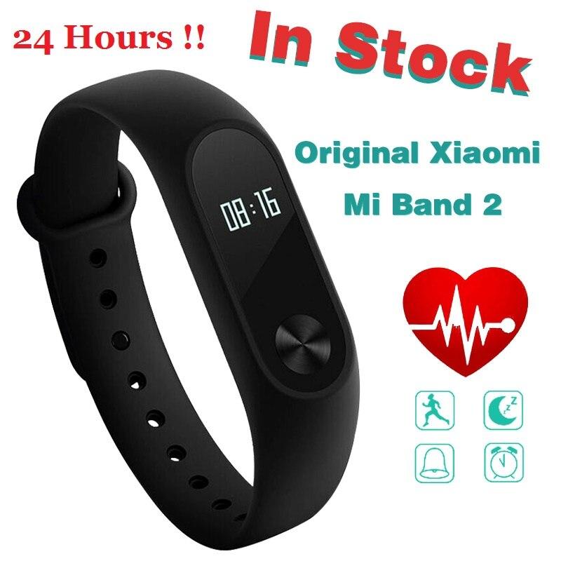 Auf Lager! Original Xiao mi mi Band 2 mi band2 Armband Armband mit Smart Herz Rate Fitness Touchpad OLED Bildschirm band2