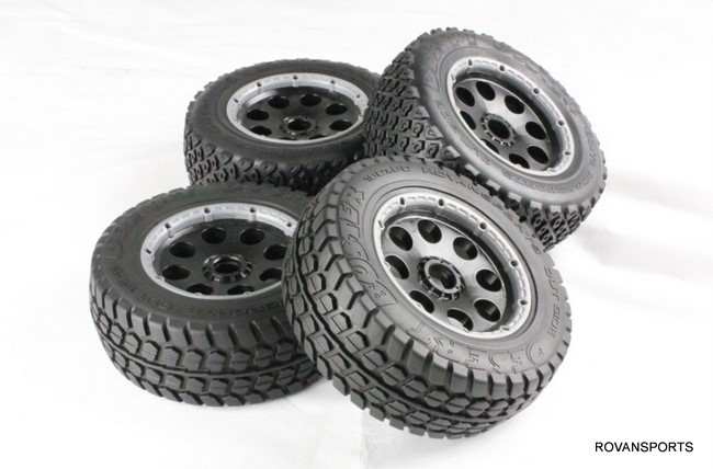 baja 5T off-road tyre set 85044 wheel hub set fit hpi rovan km metal baja 5t wheel hub set two rear and two front wheels and beadlocks for 1 5 hpi baja 5t parts rovan km