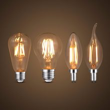 LED Filament Bulb E27 Retro Edison Lamp 220V E14 Vintage Candle Light Bulb Chandelier Replace 20w 40w 60w 80w Incandescent Bulb(China)