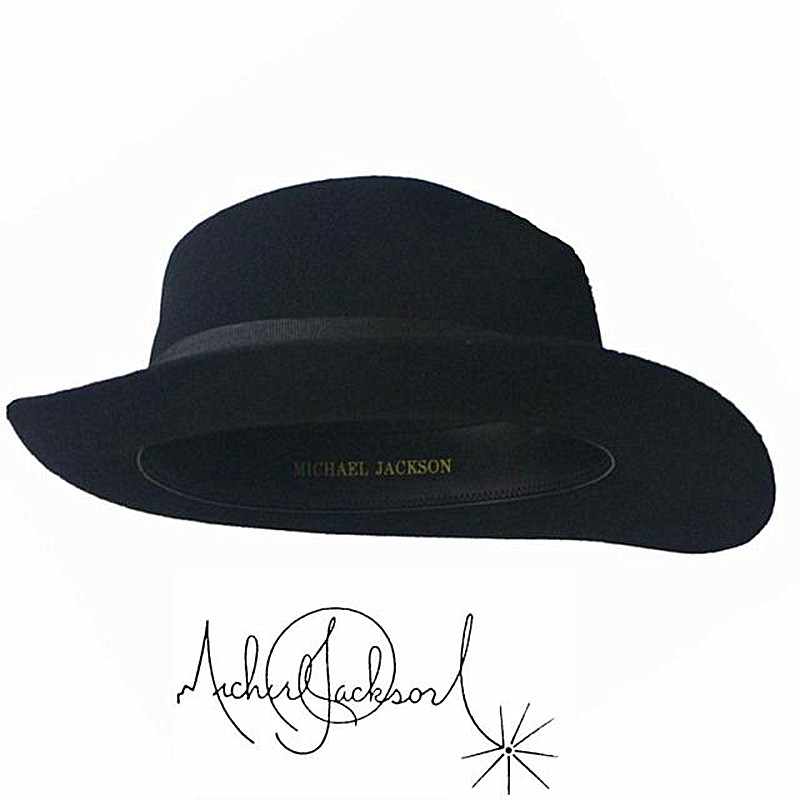 7696afb605cff WOW 2pcs MICHAEL JACKSON White Black Hats Fedora Smooth ...