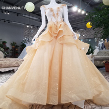 CHANVENUEL LSGT6595 lace flowers beading Illusion dress