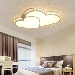 Image 4 - Kristal Modern Led tavan ışıkları oturma odası yatak odası için lamparas de techo colgante moderna avize kristal tavan lambası fikstür
