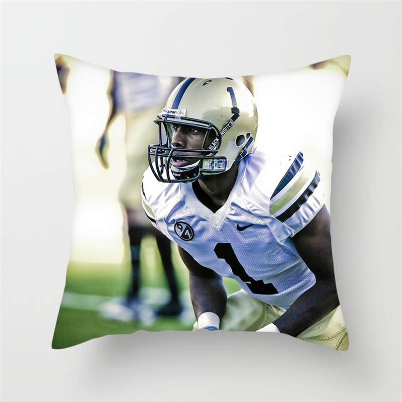 Fuwatacchi American Football Pillow Cover Football Sports Cushion Cover Home Decoration Accessories Throw Pillow Cases 2019 in Cushion Cover from Home Garden