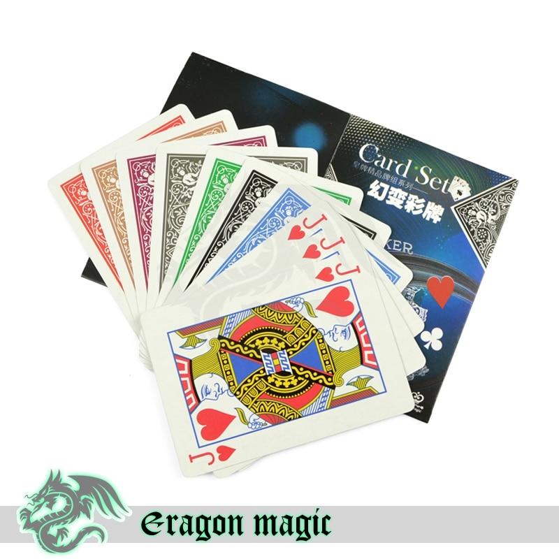 Barvite kartice Čarobni triki Brezplačna dostava Magia Trick - Klasične igrače