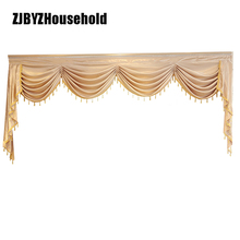 Curtain Valance Window-Swag Bedroom Luxury-Style European for Living Lambrequin