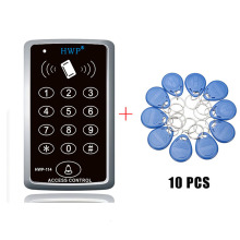 Клавиатура контроль доступа RFID бесконтактная дверь система контроля доступа с функцией master Card 125 кГц 10 карт бесплатно