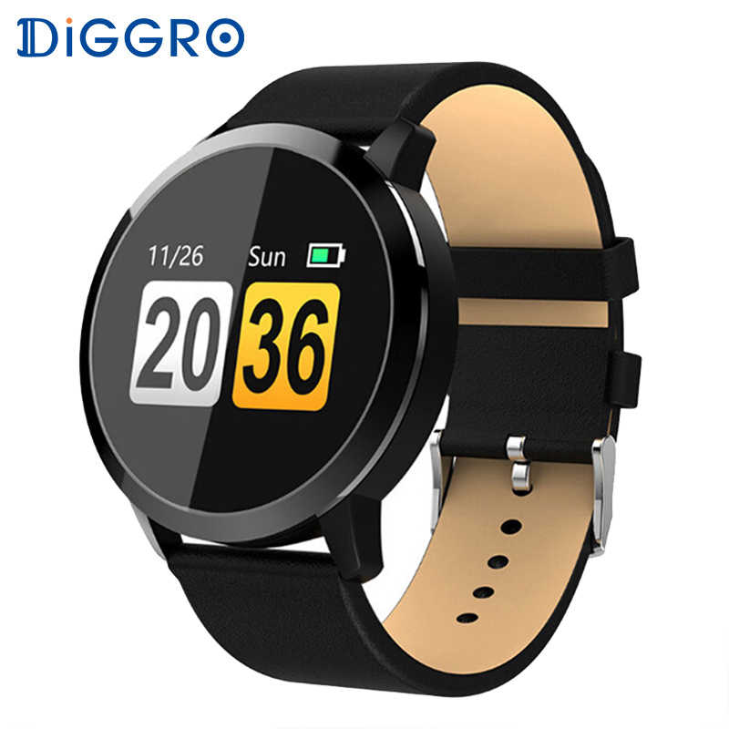 Diggro Q8 Advanced Bluetooth Fitness Smart Watch Stainless Steel Waterproof Smartwatch Wristwatch Men Women Tracker