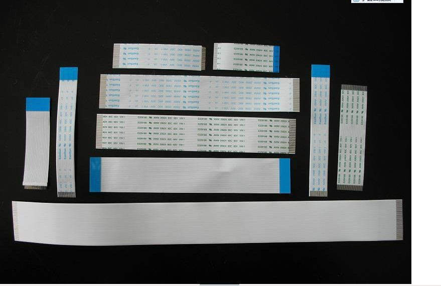 CUSTOMIZED ORDER : Flat Flex Ribbon FFC Cable 4 - 80 Pin 30 - 800mm Long Pitch 0.5mm 0.8mm 1.0mm 1.25mm 2.54mm Awm Vw-1