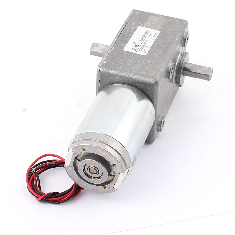 DC 12V 31/5/15/22RPM Dual-Shaft High Torque Reversible Worm Gear Motor Speed Reduction Reducing Electric GearBox Motor Accessory ac motor gearbox gear head non standard yn70 15 70jb300g10 speed reducing motor
