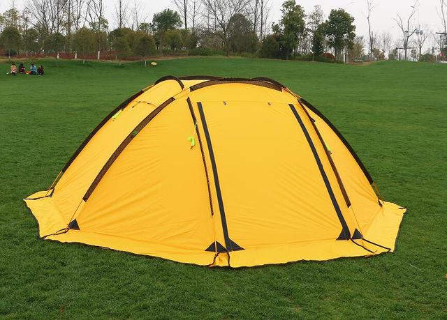 Hillman 3-4 person big space aluminum poles 210T waterproof ultralight outdoor camping tent high quality new tent