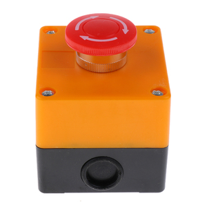 220V 3A Latching NC Emergency Stop Red Mushroom Push Button Switch Station