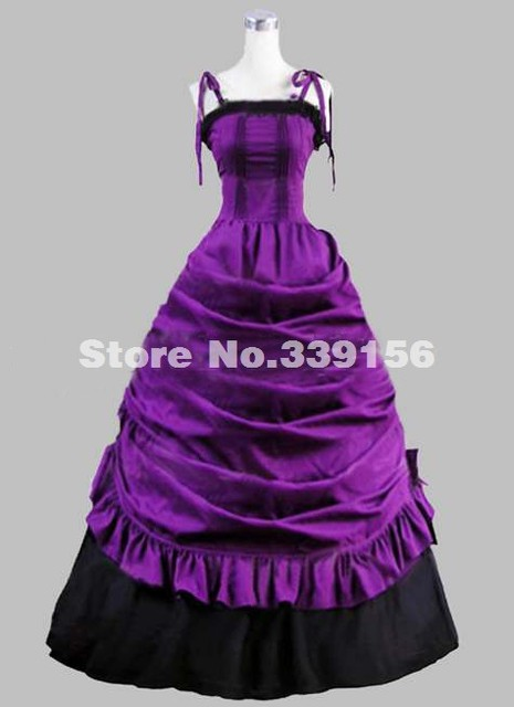 af14ede6dec9 Hot Sale Noble Spaghetti Strap Gothic Victorian Dresses Purple Southern  Belle Party Dresses Victorian Ball Gown