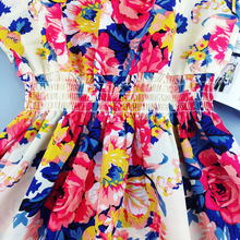 2017 summer autumn new Korean Women casual Bohemian floral leopard sleeveless vest printed beach chiffon dress vestidos WC0344