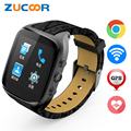 Health Tracker Smart Wrist Watch Phone ZW66 Support SIM Card Call 3G Android WiFi/GPS Heart Rate Monitor Bluetooth Camera Mp3