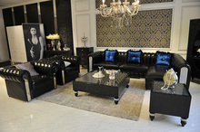 2018 Фаэтон секционная к milwauke Мебель для гостиной комплект Чай стол, тумба под телевизор и 4 шт. стулья Обеденный набор, кожаный диван