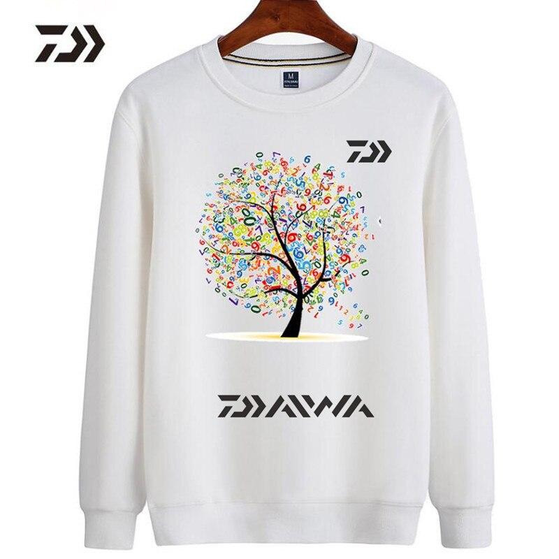 2018 New DAIWA Men Spring Autumn Fishing Jackets Winter Fleece Outdoor Fishing Clothing Hoodies Printing Fishing Clothes