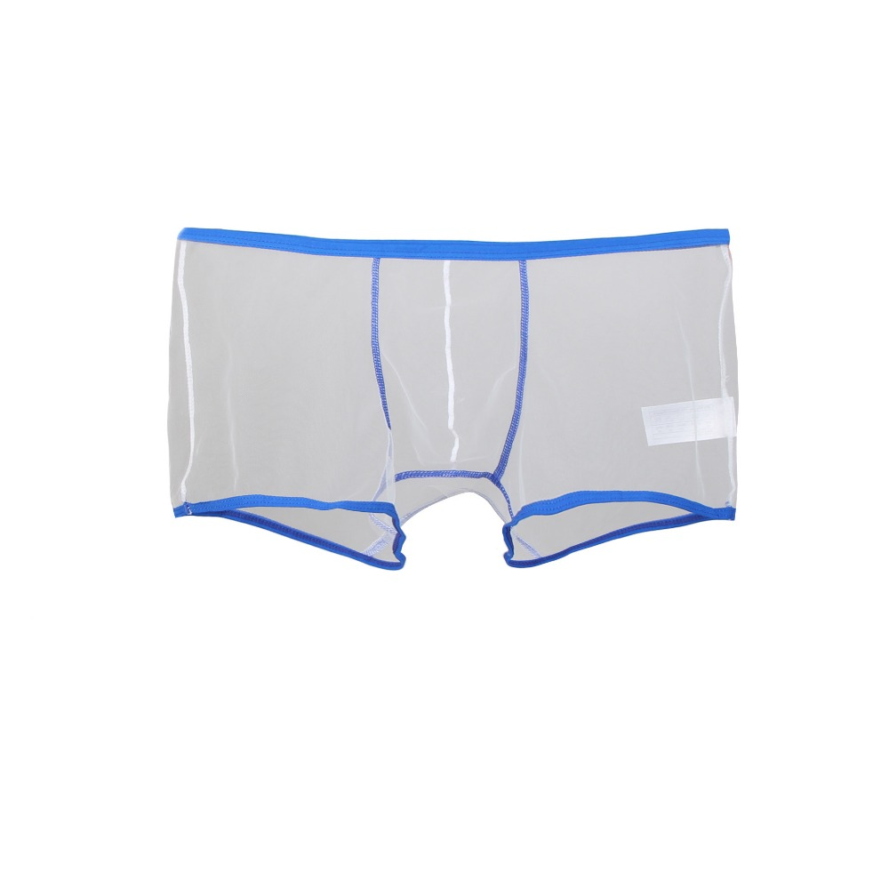Sexy Underwear Men Boxer See Though Thin Breathable Low Waist Ropa Interior Masculina Boxer Homme Wholesale M L XL MP054