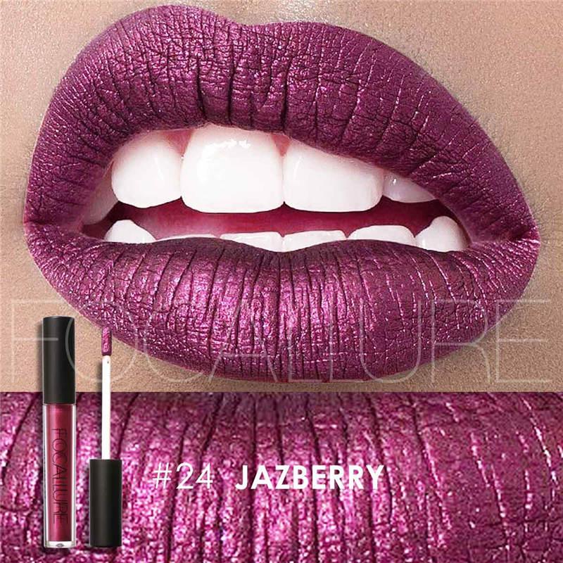 25 Colors Fadeless Sexy Lip Gloss Metallic Shimmer Liquid Lipsticks Waterproof Long-Lasting 12 Hours Cosmetics Makeup Wholesale