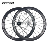 carbon track wheels single speed 25mm width 50mm Clincher tubeless compatible alloy nipples fixed gear hubs aerodynamic spokes