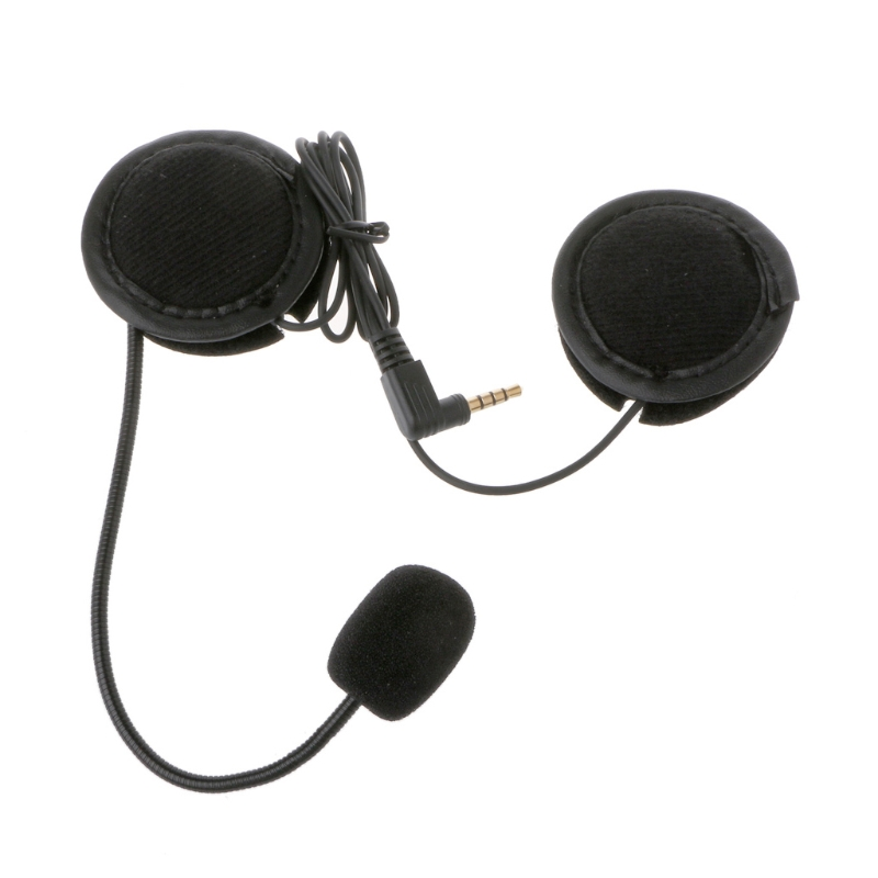 Microphone Speaker Soft Cable Headset Accessory For Motorcycle Helmet Bluetooth Interphone Intercom Work With Any 3.5mm-plug