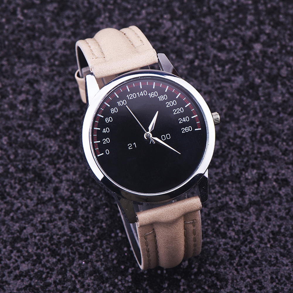 lide leather band analog quartz watches wrist