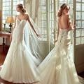 2017 Vintage Sirena Vestidos de Novia Hechos A Mano Con Cuentas Sweetheart robe de mariage Apliques de Encaje Exquisito Espalda Abierta Tren de la Corte