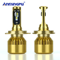 ANMINGPU 2pcs Car Headlight Bulbs 90W 8000LM H4 Led Bulb ZES Lampada Led H4 With Philips