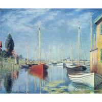 Hand Painted Oil Paintings Claude Monet Canvas Art Argenteuil Yachts High Quality Home Decor