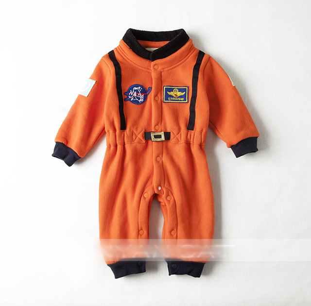 Baby boys nasa astronaut costumes infant halloween Romper for toddler boys kids space suit jumpsuit  H00190