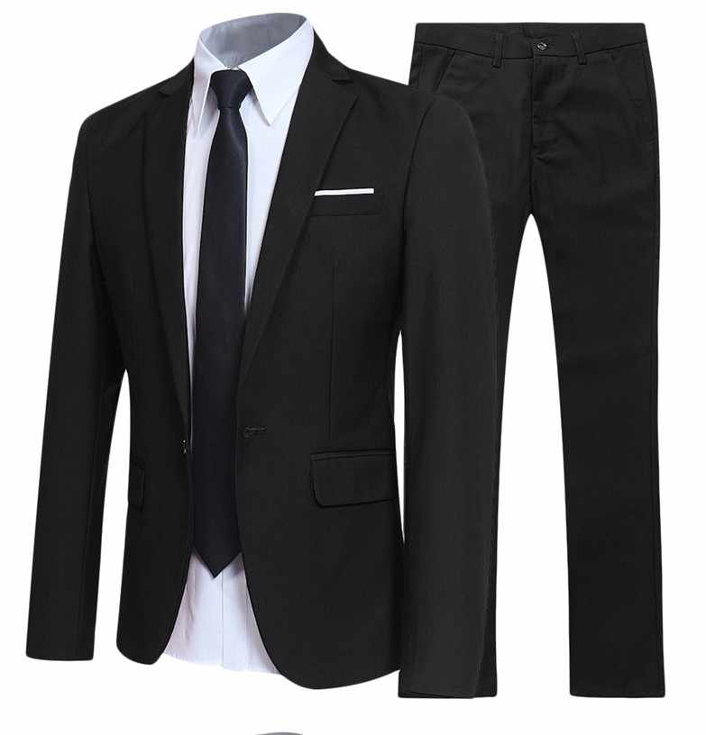 Groom Dress Black Suits For Man Formal Wear Slim Fit Suits Wedding Dress Suits Blazer Jackets+Pants+Shirts 3 Pieces Suits