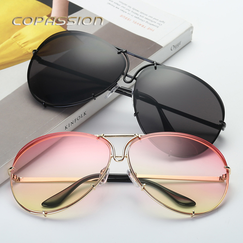 New Aviation 8478 sunglasses men women luxury brand Metal frame Oversized sun glasses driver goggles uv400 Eyewear oculos de sol