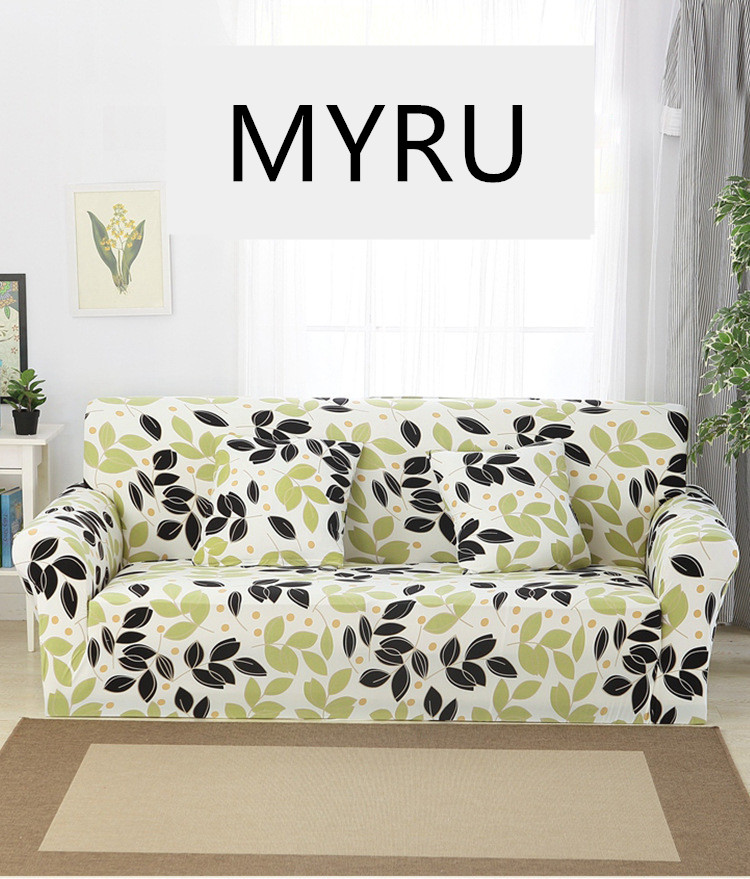 Europe Leaves Sofa Slipcovers Tight Wrap All-inclusive Slip-resistant Elastic Cubre Sofa Towel Corner Sofa Cover Couch Cover