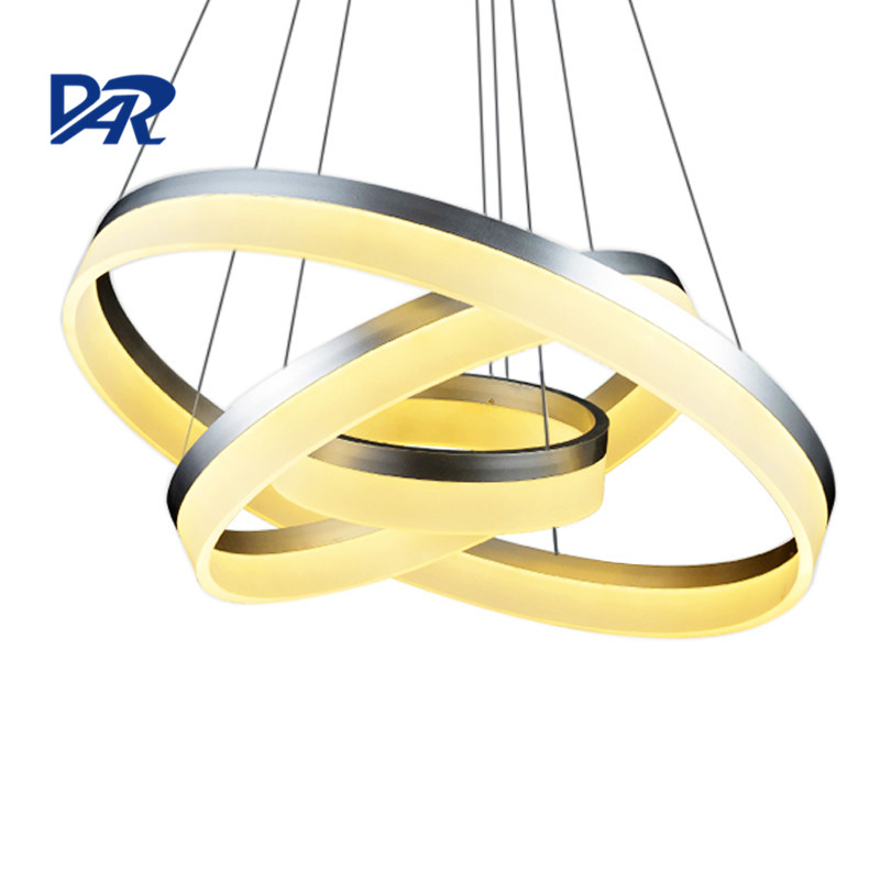 1/2/3 Rings Acrylic Modern Pendant Lights Lampshade Led Lamp Decorative Home Lighting Lustre Lampadario Lamparas Colgantes Avize nordic pendant lights glass lampshade g4 lustre led lamp art deco lamparas colgantes hanglamp suspension luminaire avize lampen