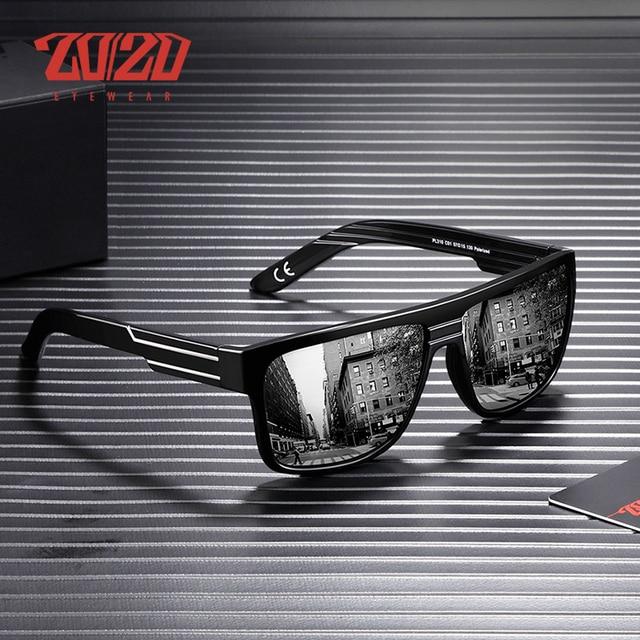 7e405412a52 20 20 Brand Men s Fashion Polarized Sunglasses Men For Driving Plastic UV  Protection Eyewear Designer
