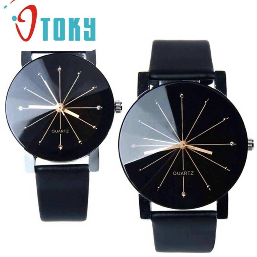 OTOKY Willby Men 2016 new brand Quartz Dial Clock Leather Wrist font b Watch b font