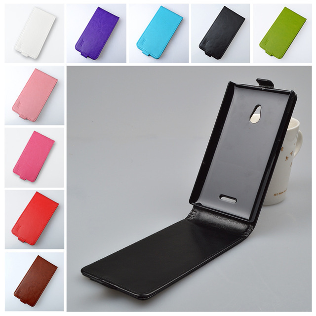 Up and down leather case for Nokia XL Dual SIM RM-1030 / RM-1042 flip cover case for Nokia RM 1030 / RM 1042 phone covers cases
