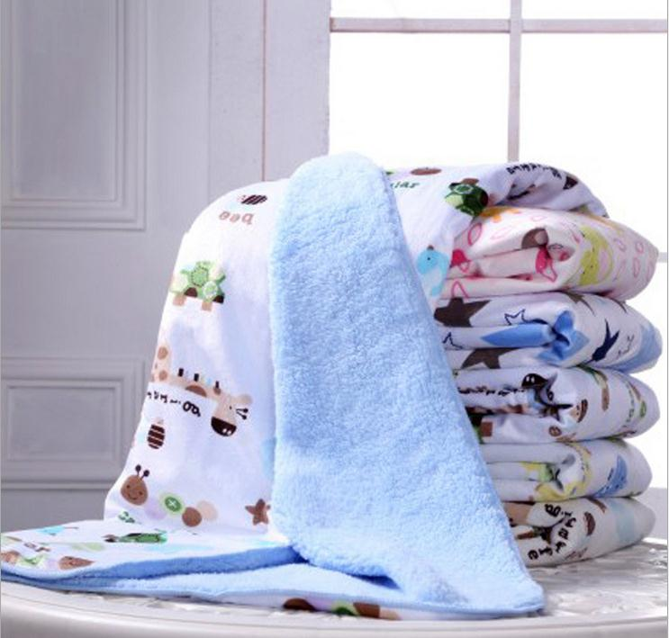 Newborn baby blanket winter autumn kids thick cotton cashmere blanket travel receiving blankets for bed sofa infantil cobertor