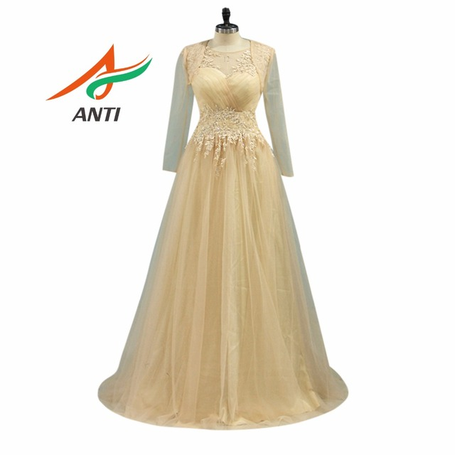 Anti New Design Champagne Mother Of The Bride Dresses Appliques A