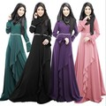 2015 Индонезия Малайзия Платье Женщины Мусульманская одежда Дубай Одежда С Длинным Рукавом Платья Макси Мода Исламская Абая Джилбаба Лето Абая